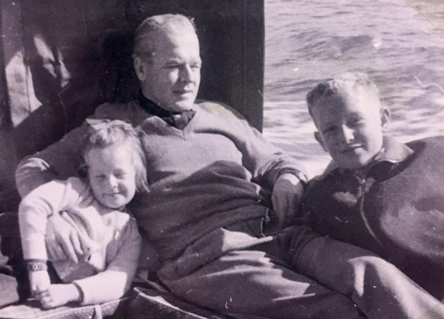 Pepík s dětmi Milanem (Jerrym) a Susan, 1959