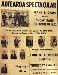 plakát vystoupení maorského hudebního souboru