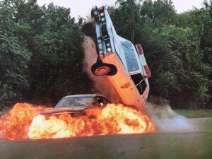 oblíbený trik v explodujícím voze